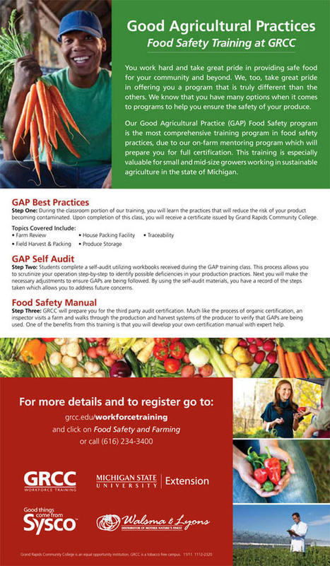 Good Agricultural Practices (GAP) Food Safety Training   Eat Local West Michigan   Scoop.it