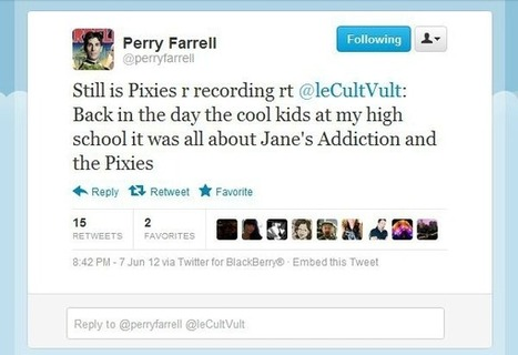 Pixies in the studio? Perry Farrell suggests they are, tweeting, 'Pixies ...   Winning The Internet   Scoop.it