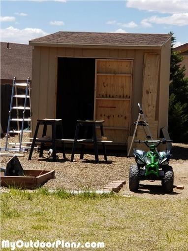 Framing A 10x10 Room: DIY 10x10 Flat Roof Shed