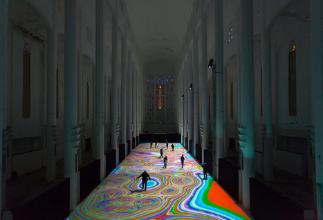 Interactive Light Display Transforms Moroccan Church into a Multicolored, Reactive Art Experience | Communication design | Scoop.it