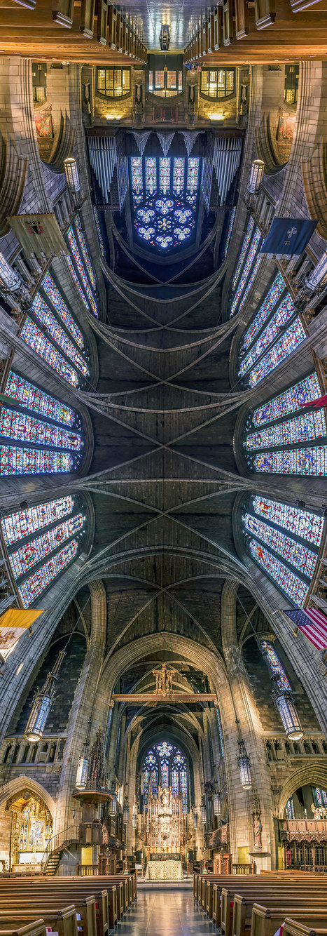 Vertical Panoramic Photographs of New York Churches by Richard Silver | Colossal | Everything Photographic | Scoop.it