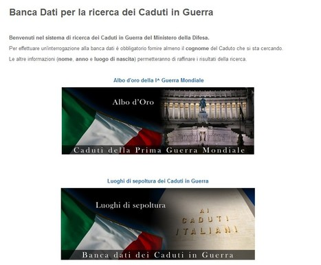 Banca Dati per la ricerca dei Caduti in Guerra | Genealogia | Scoop.it