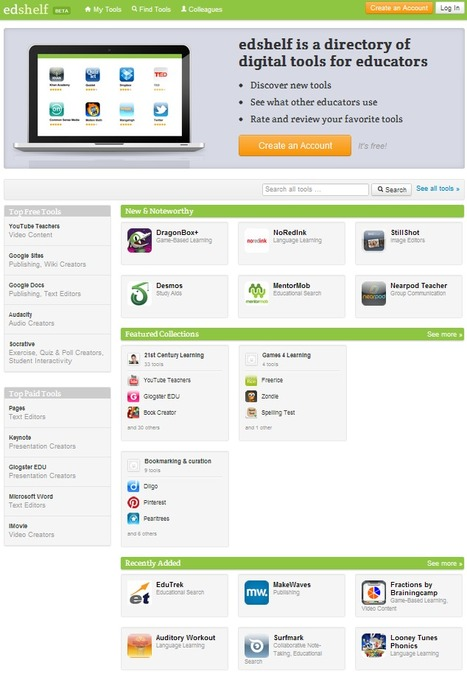 edshelf: directory of educational technology   TELT   Scoop.it