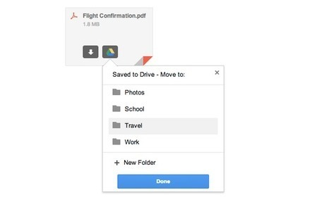You can now save Gmail attachments to Google Drive | Using Google Drive in the classroom | Scoop.it