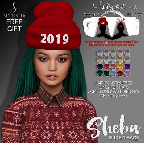 b172c13ceb4 Sheba Sliked Back With Hat January 2019 Gift by Sintiklia