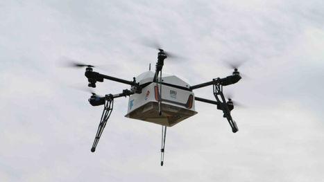 Domino's a vraiment utilisé un drone pour livrer une pizza en Nouvelle-Zélande | Drone | Scoop.it