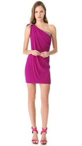 Marchesa Notte One Shoulder Cocktail Dress | SHOPBOP | GonPin.me | My Fasion 101 | Scoop.it