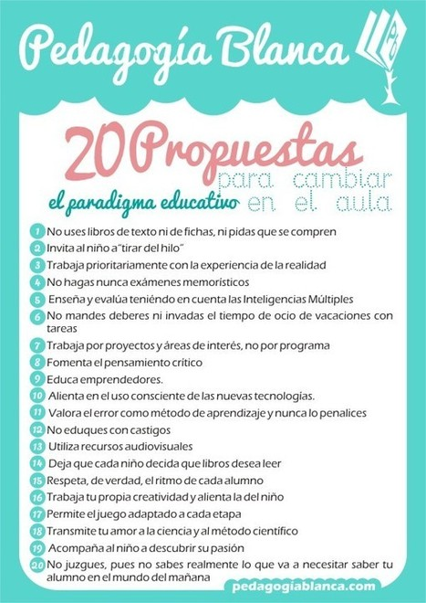 Imprimible: 20 propuestas para cambiar el paradigma educativo en el aula | EDUCACIÓN en Puerto TIC | Scoop.it