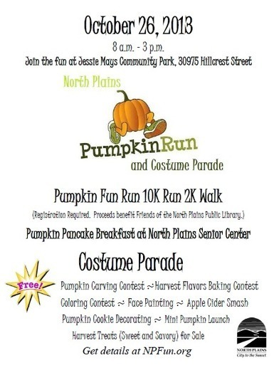 North Plains Pumpkin Run and Costume Parade fundraiser | Cha-Ching | Scoop.it