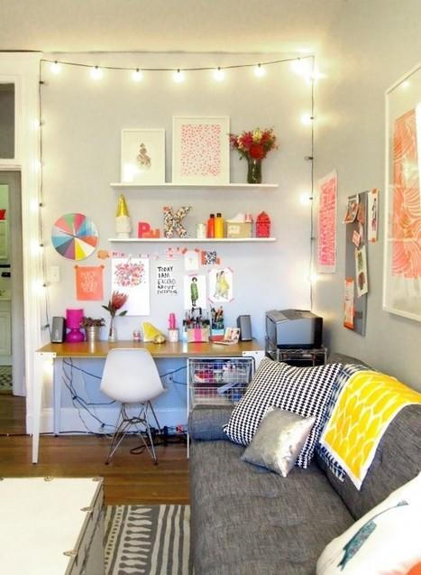 Le bureau coloré et scintillant de Paperfashion   décoration & déco   Scoop.it
