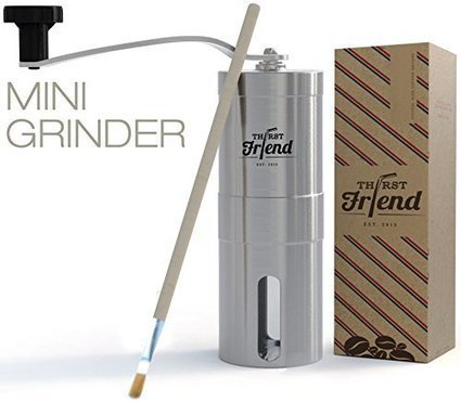 Thirst friend mini manual coffee grinder with f thirst friend mini manual coffee grinder with free cleaning brush waterproof travel pouch top rated portable grinder best to brew espresso turkish fandeluxe Image collections