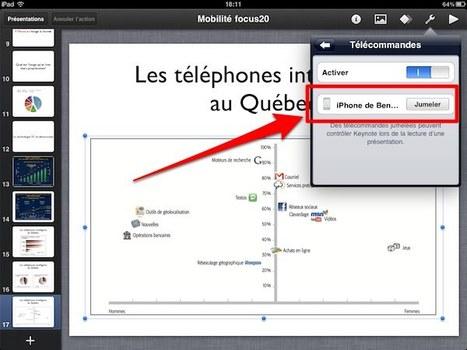 Comment utiliser un iPhone pour contrôler une présentation Keynote diffusée depuis un iPad   Descary.com   Outils et  innovations pour mieux trouver, gérer et diffuser l'information   Scoop.it