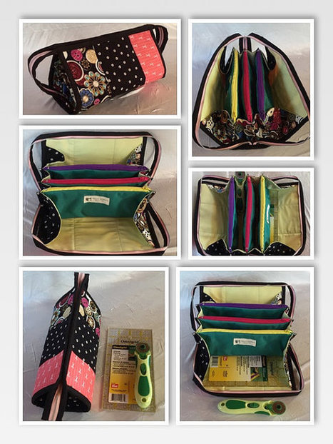 Small Sewing Bag tutorial with flying pockets (PDF tutorial) | Bazaar | Scoop.it