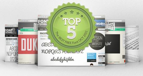 The top 5 best free font October 2011   Top 5 Best   Pixeden   Webdesign Freebies   Scoop.it