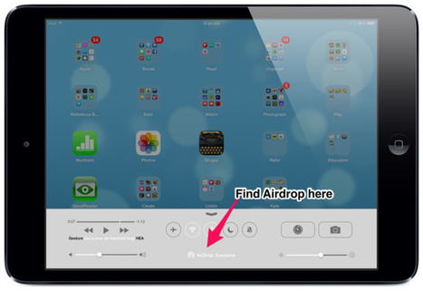 How to use AirDrop - iOS 7's most important new feature for teachers - teachingwithipad.org | outils informatiques pour la classe de FLE _ networking tools | Scoop.it