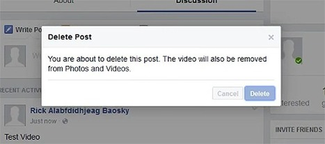 Facebook bug would've let anyone delete any video | MarketingHits | Scoop.it