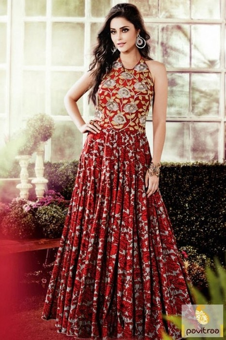 Red Color Party Gowns For Women Online Shoppi