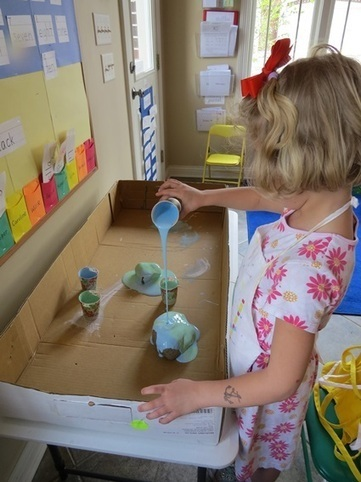 Our Earth rocks: a pour painting activity | Happy Days Learning Center - Resources & Ideas for Pre-School Lesson Planning | Scoop.it