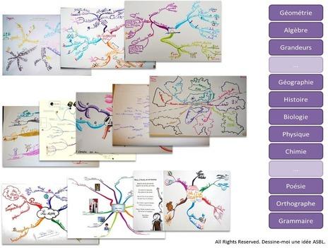 asbl DESSINE-MOI UNE IDEE: Le Mind Mapping à l'école (PARTIE II): apprendre dans toutes les disciplines | Ressources informatique et classe | Scoop.it