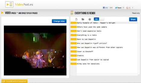 Take notes and navigate videos with VideoNot.es | 21st Century Technology Integration | Scoop.it