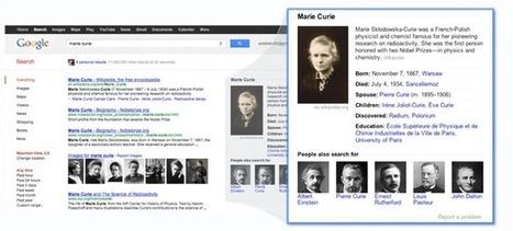 Google Knowledge Graph : un pas vers la recherche sémantique | Rat de bibliothèque | Scoop.it