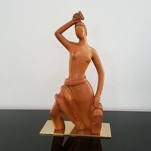 Art Deco walnut rare Laszlo Hoenig sculpture   Collectors Weekly   20th century design   Scoop.it