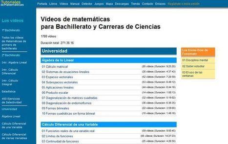 Fonemato, gran colección de videotutoriales y libros de matemáticas para estudiantes | Al calor del Caribe | Scoop.it