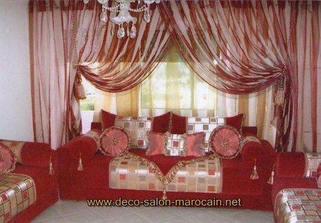 Rideaux de Salon marocain oriental - Plafond pl...