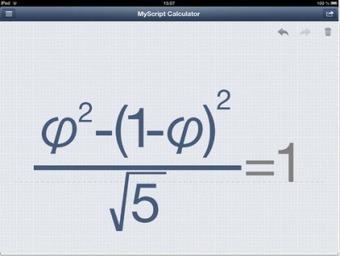 MyScript Calculator: The Only iPad Calculator App thatMatters? | iPad classroom | Scoop.it