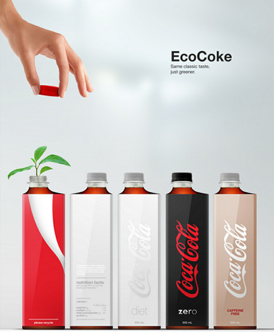Compact Coke Bottle Concept is Stunning & Space-Saving | Designs & Ideas on Dornob | Forward thinking...Or failed thought?? | Scoop.it