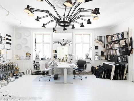 Le studio black & white de Tenka Gammelgaard | décoration & déco | Scoop.it