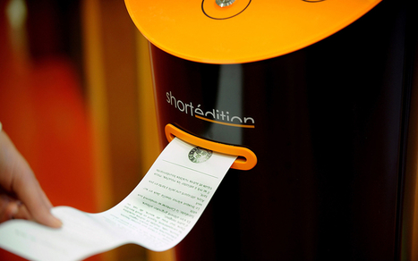New! Vending Machines That Dispense Short Stories in France | Smarter Business | Scoop.it