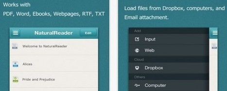Conversión de documentos y páginas web a audio con Natural Reader | Educación a Distancia y TIC | Scoop.it