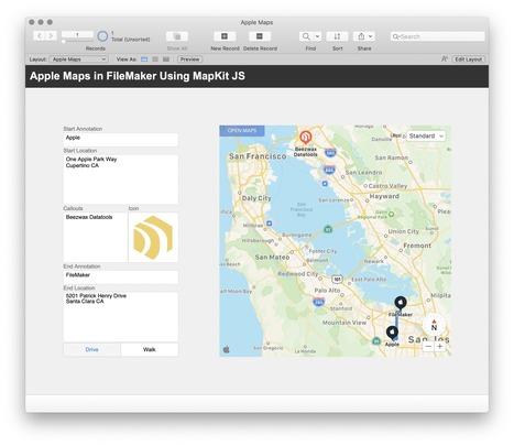 MapKit' in Learning FileMaker | Scoop it