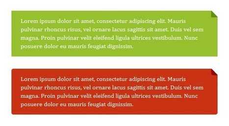 Pure CSS folded-corner effect – Nicolas Gallagher | Learning HTML, CSS, Design Favs | Scoop.it