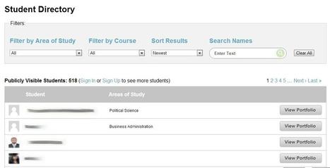 New! Improved! The ePortfolio Student Directory « Saylor.org – Free ... | AAEEBL -- Social Media, Social Selves | Scoop.it