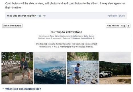 Facebook lance une nouvelle fonctionnalité : l'album photo collaboratif | Tourisme et marketing | Scoop.it
