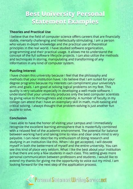 university personal statement example