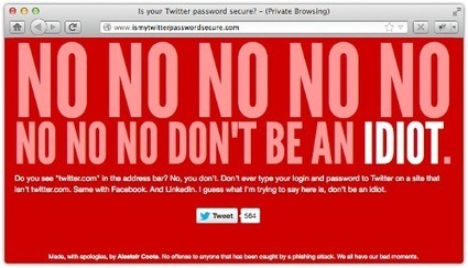 """Beware Twitter """"password check"""" sites - there are fakes, and there are fake fakes! 
