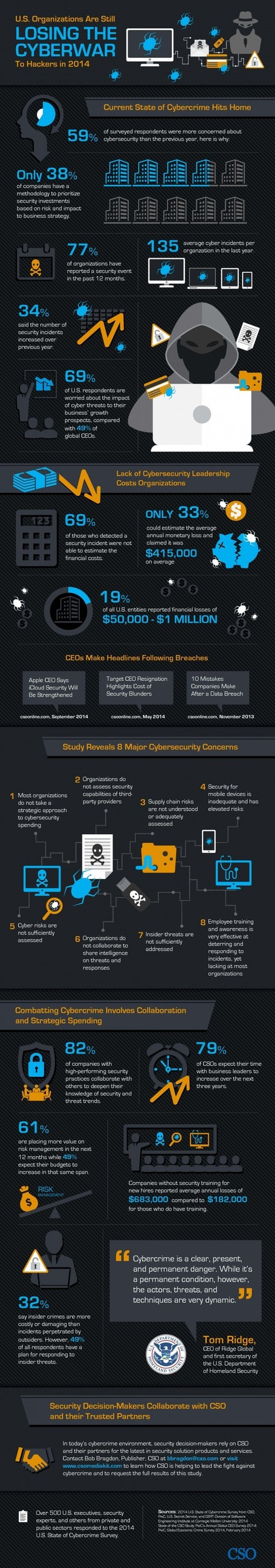 INFOGRAPHIC: Losing The Cyberwar To Hackers | Cloud Central | Scoop.it