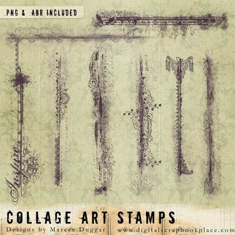 Art Journaling Collage Collaboration with Marcee and Kim! - Digital ... | Journal For You! | Scoop.it