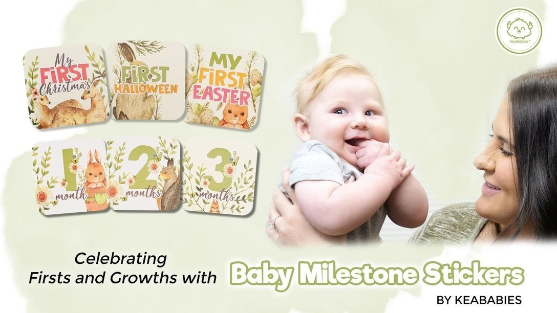 Capture Meaningful Milestones | 24 Baby Monthly, Holiday Milestone Stickers | Photography Prop
