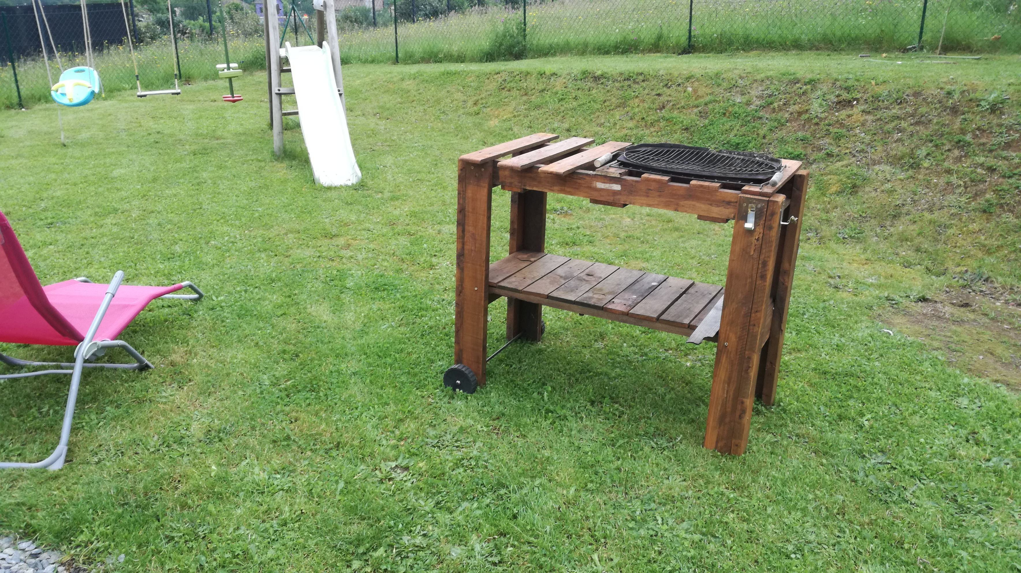 Table De Chevet Pirate barbecue / pallet bbq table | 1001 pallets idea