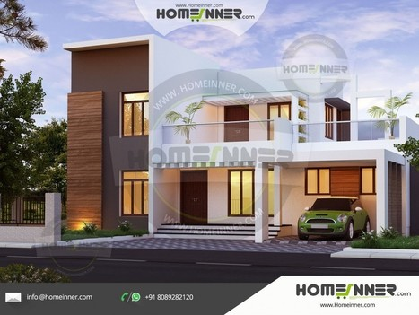 2385 Sq Ft 4 Bedroom Modern Flat Roof Contempor