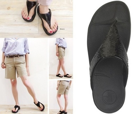 60968a5ec4d Discount Fitflop Electra Black Glitters Flip Flops for Women
