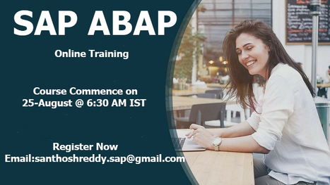 sap abap online course' in SAP ONLINE TRAINING | Scoop it