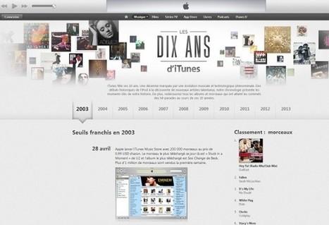 Apple retrace les 10 ans d'iTunes - Le Monde Informatique | Apple World | Scoop.it