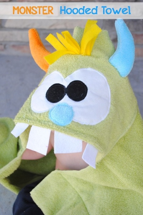 Monster Hooded Towel Tutorial | Easy Sewing Projects for Kids | Scoop.it