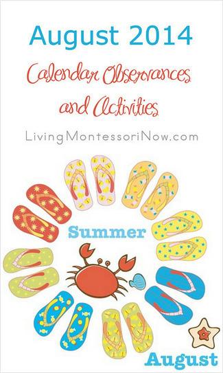 August 2014 Calendar Observances and Activities | Montessori Inspired | Scoop.it