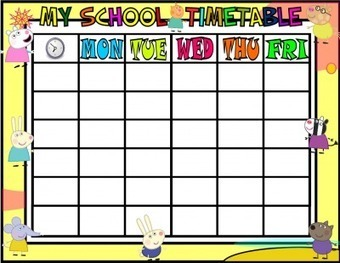 School Timetable Peppa Pig And Minions Materi